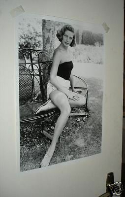 Lauren Bacall Magnificent New Poster B/W Bench