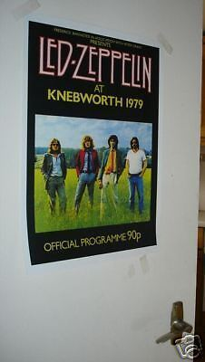 Led Zeppelin Tour Poster REPRO Knebworth 1979