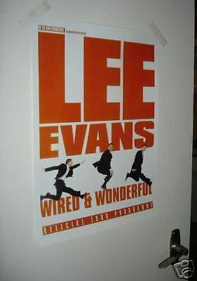 Lee Evans Weird and Wonderful Tour Poster