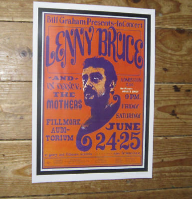 Lenny Bruce in Concert Repro Tour POSTER