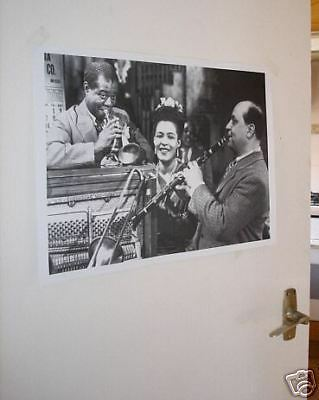 Louis Armstrong Barney Bigard Fantastic Poster NEW BW