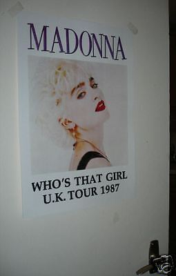 Madonna Whos that girl 1987 Tour Repro Poster