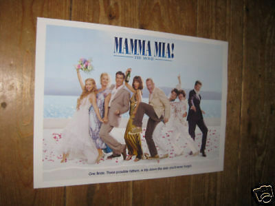Mamma Mia Fantastic New Colour POSTER cast