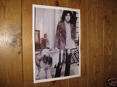 Marc Bolan T Rex Great New BW poster Dog