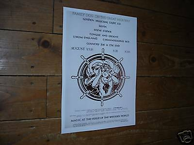 Marc Bolan T-Rex Early Repro Tour Poster