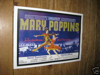 Mary Poppins Julie Andrews Repro Film POSTER