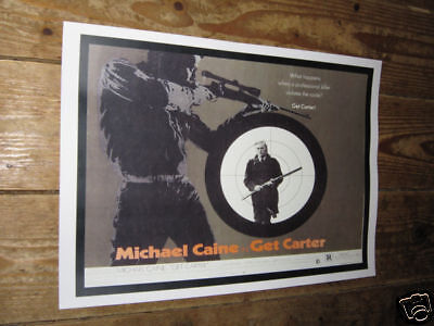 Michael Caine Get Carter Repro Film POSTER