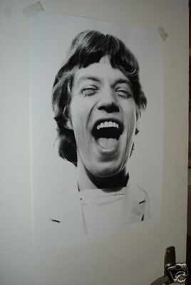 Mick Jagger The Rolling Stones Poster Laughing