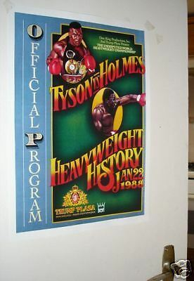 Mike Tyson Larry Holmes Repro Door Poster