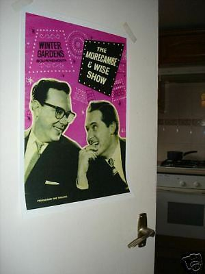 Morecambe and Wise Door Poster #4 programme Pink