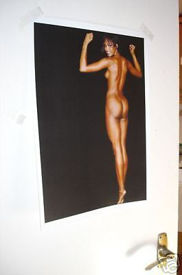 Naomi Campbell NUDE Art Supermodel NEW Poster Black