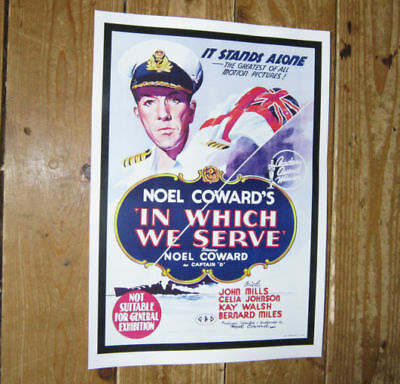 Noel Coward In Which We Serve Repro Film POSTER