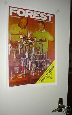 Nottingham Forest Barcelona 1980 Poster of Programme