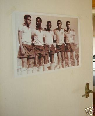 Pele Garrincha and Brazil Team World Cup GREAT Poster