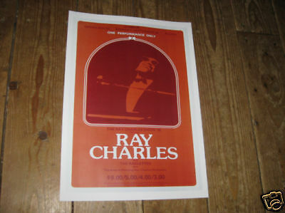 Ray Charles Repro Tour POSTER  Red