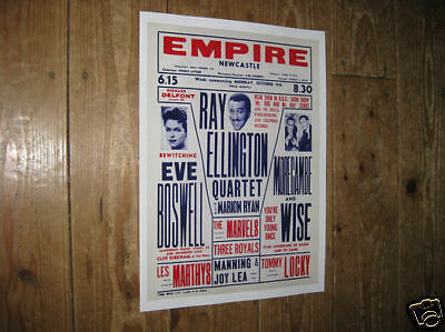 Ray Ellington Morecambe and Wise Repro Theatre Poster