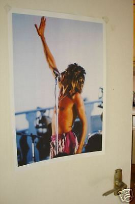 Rod Stewart Colour Door Poster Singing
