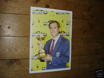 Seve Ballesteros Golf Legend with Trophy Yellow POSTER