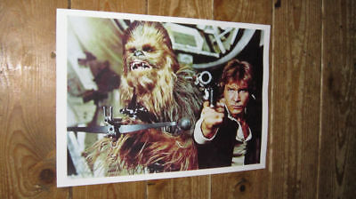 Star Wars Hans Solo Chewbacca Colour POSTER