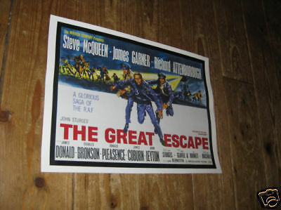 Steve McQueen The Great Escape Advertising Repro POSTER