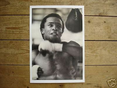 Sugar Ray Leonard With Speed Bag Boxing POSTER