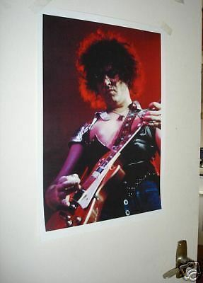 T-Rex Marc Bolan Live On Stage Red New Poster