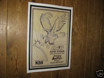 The Eagles Repro Tour POSTER Aloha