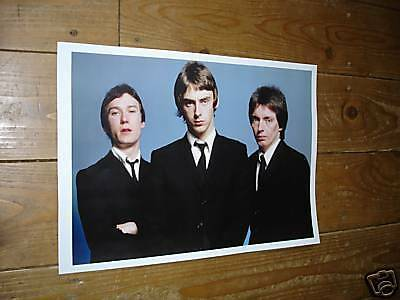 The Jam Paul Weller New COLOUR Group Poster