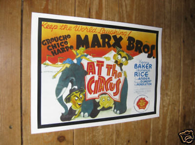 The Marx Brothers At The Circus Repro POSTER