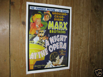 The Marx Brothers At The Opera Repro POSTER