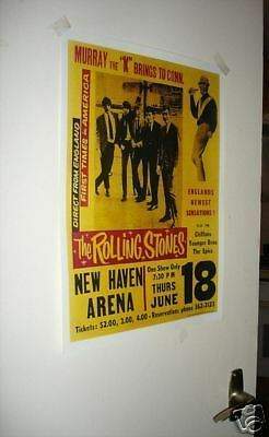 The Rolling Stones Repro Tour Poster New Haven