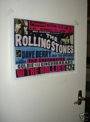 The Rolling Stones Repro Tour Poster Southend
