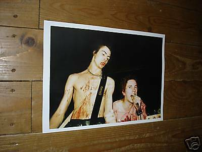 The Sex Pistols Sid Vicious Johnny Rotten  Poster Blood