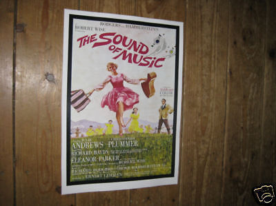 The Sound of Music Julie Andrews Repro Film POSTER
