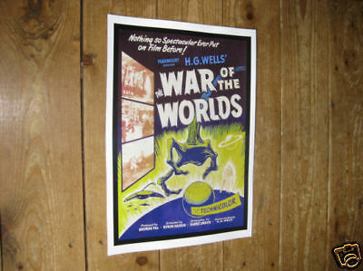 The War of the Worlds Repro 1950s POSTER