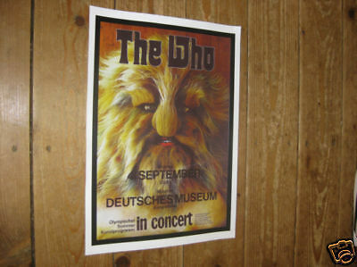 The Who Deutsches Museum Repro Tour POSTER