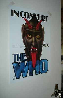 The Who Repro Poster In Concert NEW