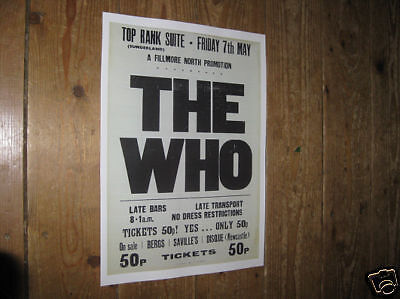 The Who Repro Tour POSTER Fillmore