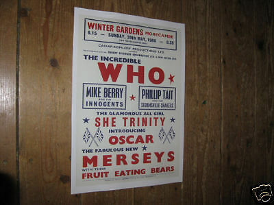 The Who Repro Tour POSTER Winter