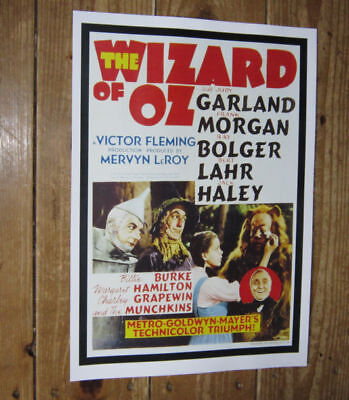 The Wizard of Oz Judy Garland Repro Film POSTER Port
