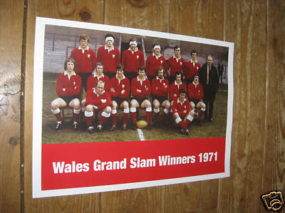 Wales Grand Slam Rugby Winners 1971 POSTER Welsh