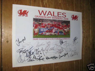 Wales Grand Slam Winners 2008 Rugby POSTER Copy Autos