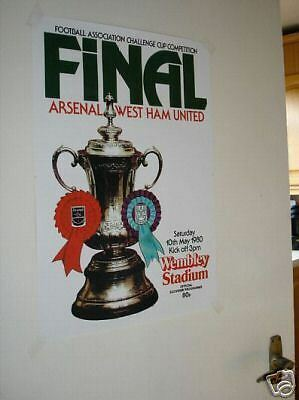 West Ham United Utd 1980 FA Cup Final POSTER Programme