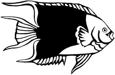 Angel Fish Vinyl Decal Car Cycle Truck Window Sticker