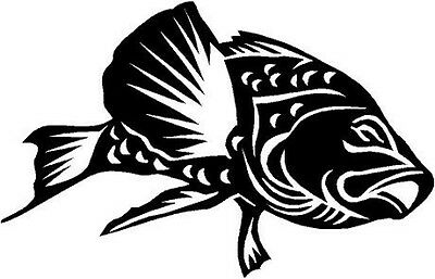 Bass Fish Vinyl Decal Car Truck Boat Trailer Signs RV Window Sticker 3