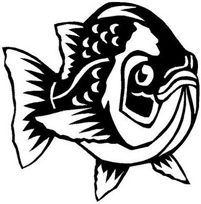 Perch Fish Vinyl Decal Car Truck Boat Trailer Signs RV Window Sticker 4