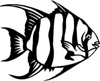 Spade Fish Vinyl Decal Car Truck Cycle Window Sticker