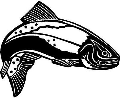 Trout Fish Vinyl Decal Car Truck Cycle Window Sticker