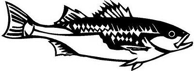 Bass Fish Vinyl Decal Car Truck Boat Trailer Signs RV Window Sticker 01