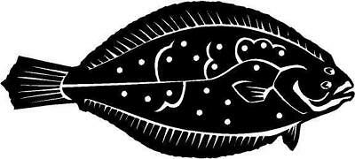 Flounder Fish Vinyl Decal Car Truck  Window Sticker